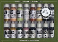 16 X 17ml Botella Sistema De La Pintura Por Vallejo val70107 Modelo Color Set Alemana Segunda Guerra Mundial