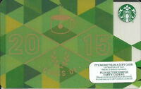 STARBUCKS CLASS OF 2015 MINT GIFT CARD FROM CANADA BILINGUAL NO VALUE **NEW**