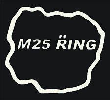 m25 ring nurburgring sticker white , race , track , jdm