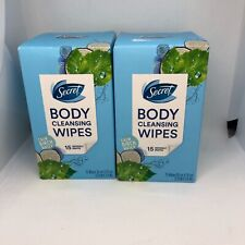 SECRET Body Cleansing Towelette Deodorant ~ Calm Birch Water **2 packs**