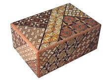Japanese Yosegi Puzzle Box 4 Sun 21 Steps Secret locking/unlocking made in Japan