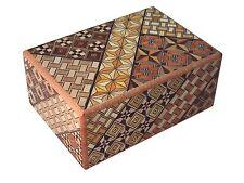 Japanese Yosegi Puzzle Box 4 Sun 21 Steps Secret locking/unlocking made in Japan
