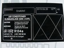 Original Mercedes pegatinas aire acondicionado r170 w202 w208 nuevo!