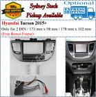 Harness + Fascia facia Fits Hyundai Tucson 2015+ Double Two 2 DIN Dash Kit-