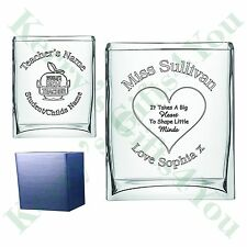 Personalised Engraved Glass Vase Pen Pot Teacher End of Term Thank You Gifts