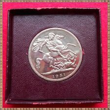 1951 GEORGE VI FESTIVAL OF BRITAIN CROWN (5/-) COIN. boxed with cert.