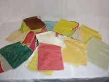 lot of 30+ Vtg Upholstery Drapery Fabric Samples Swatches Gold Lurex Textured