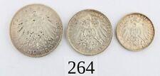 "2 3 5 Mark 1902 1904 1912 F Silbermünze "" Wilhelm Württemberg "" Jäger 174-176"