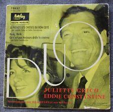 Juliette Greco & Eddie Constantine, je prends les choses du bon,  EP - 45 tours