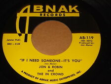 Jon & Robin and The In Crowd: If I Need Someone-It's You 45