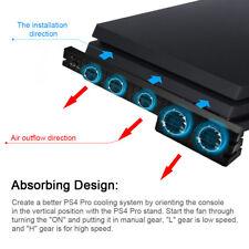 PS4 Pro External Super Cooling Fan - Turbo Cooler Black For Playstation 4 Pro UK