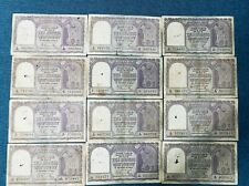 Big Size Used INDIA 10 RUPEES  BOAT *RAMA RAU* SIGN RARE CURRENCY BANK NOTE