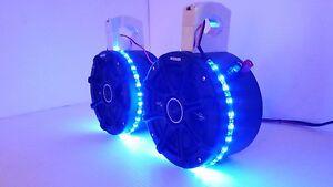 "KICKER 6 1/2"" Stereo Speakers BLUE LEDs Wakeboard Tower UTV Can Am Razor Rhino"