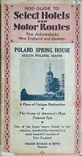 1930 Guide To Select Hotels/Motor Routes New England/Quebec Poland Spring House!