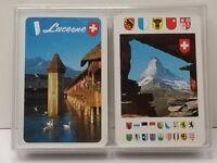 Lucerne Switzerland Playing Cards Bridge Unused Double Pack