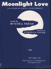 1956 Parrish / Savin0 Music (Moonlight Love from Clair De Lune by Claude Debussy