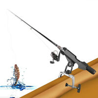 Adjustable Car Boat Kayak Fishing Rod Pole Holder Side Mount Kit Tackle Black