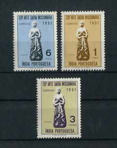 Portuguese India Portugal 1953 ART RELIGION complete set MNH, FVF