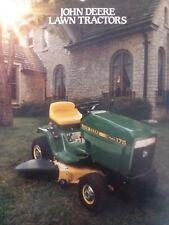 John Deere 185 165 175 160 130 Lawn Tractor Color Sales Brochure Implement 1987