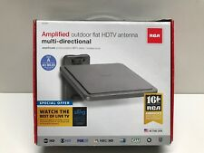 RCA ANT800Z Outdoor Omni-Directional Flat Digital TV Antenna - Gray