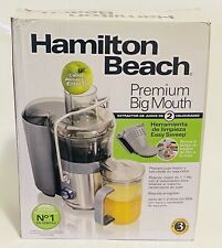 "Hamilton Beach 67850 Premium Juicer Machine, Big Mouth 3"" Feed Chute,850W,Silver"