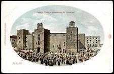 cartolina SASSARI castello pisano e processione candelieri