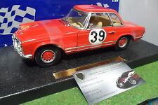 MERCEDES BENZ 230 SL #39 rouge au 1/18 ANSON 30401 voiture miniature