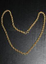 """Woman's Gold Twisted Rope Necklace - Elegant 26"""", Chain, Gold plated"""