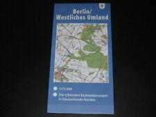 Fahrradkarte tour en CARTE radwanderungen ALLEMAGNE NORD : Berlin westl. Umland