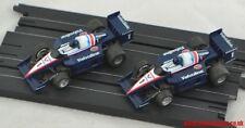 2 VALVOLINE F1 INDY auto da TYCO comuni e rare luce e le versioni blu scuro