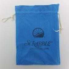 Scrabble Travel Replacement Drawstring Tile Pouch Bag Blue Game Piece