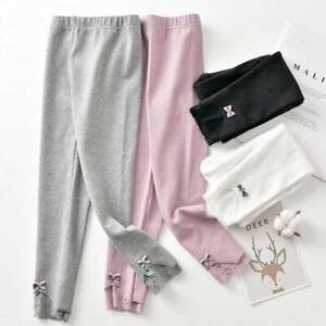 Girls Leggings Spring Autumn Thin Style 3-8 Years Children's Clothes Kids Pants