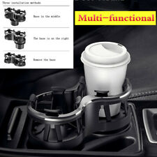 ABS Dual Cup Holder Car Storage Drinking Bottle Mug Fixed Base Multi-functional