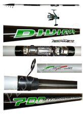 kit canna teleregolabile 7m + mulinello sword divina trota torrente pesca fiume