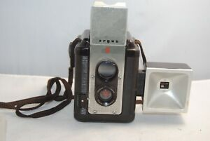 1960's Argus 75 TLR w/ flash and cloth strap