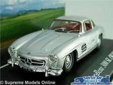 MERCEDES 300 SL CAR MODEL 1:43 GULLWING 1954 IXO SILVER MYTHIQUES W198 300SL T4
