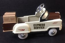 "Golden Wheels Pedal Power ""Express Service"" Delivery Die-cast Metal car"