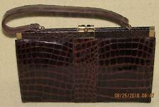 Vintage VASSAR Genuine Alligator Handbag Purse Leather Lined w Matching Wallet
