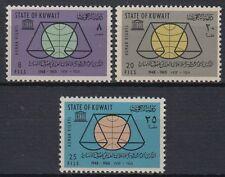 Kuwait 1964 ** Mi.212/13 menschenrechte human rights UNESCO Waage scale