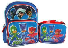 """PJ Masks Large School Backpack 16"""" Boys & Lunch Bag 2 pc set Boy Bags"""