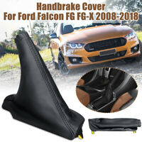 Handbrake Hand Brake Boot Cover Leather For Ford Falcon FG FG-X 2008-2018 Black