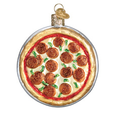 """Pizza Pie"" (32350)X Old World Christmas Glass Ornament w/OWC Box"