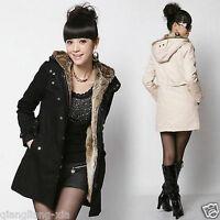Women Winter Thicken Fleece Warm Coat Lady Outerwear Fur Jacket Plus Size Parka