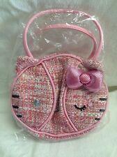 2005 New Hello Kitty Heatherette Pink Tweed Small Rare Momoberry Sanrio