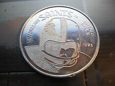 1973 saints vs buffalo bills mardi gras doubloon new orleans coin berger king