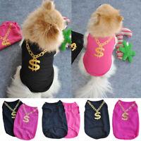 Summer Pet Puppy Small Dog Cat Pet Clothes Vest T Shirt Apparel Summer