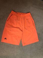 EUC ADIDAS Climalite Boys Athletic Training Shorts Neon Orange Size L (13-14)