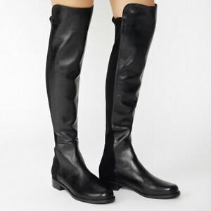 NWOT $695 Stuart Weitzman 5050 Nappa Leather Boots OTK Black sz. 9.5