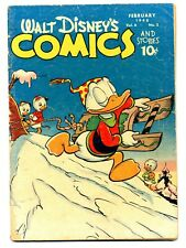 Walt Disney's Comics and Stories #89    Sledding Cover