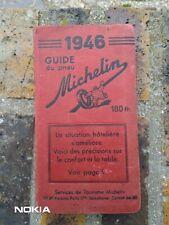 GUIDE MICHELIN ROUGE FRANCE 1946 ROUGE COMPLET EN TB ETAT D'USAGE